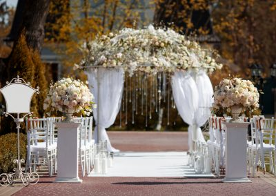 Arch  in the garden for wedding ceremony